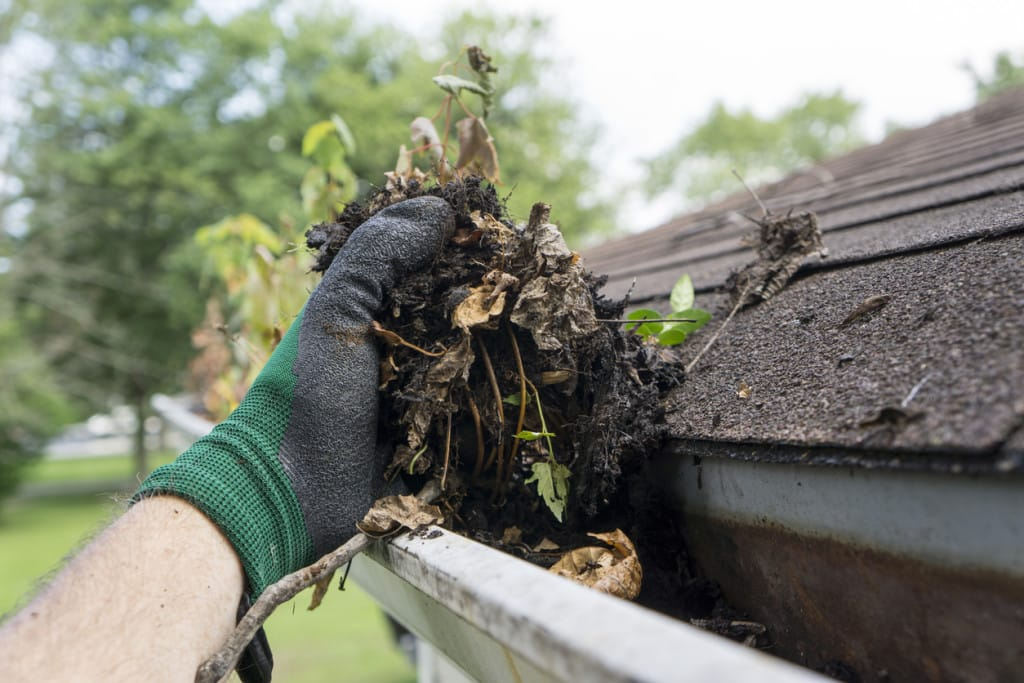 Cleaning Gutters | Piedmont Roofing
