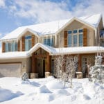 Heavy Snow Covered House | Piedmont Roofing