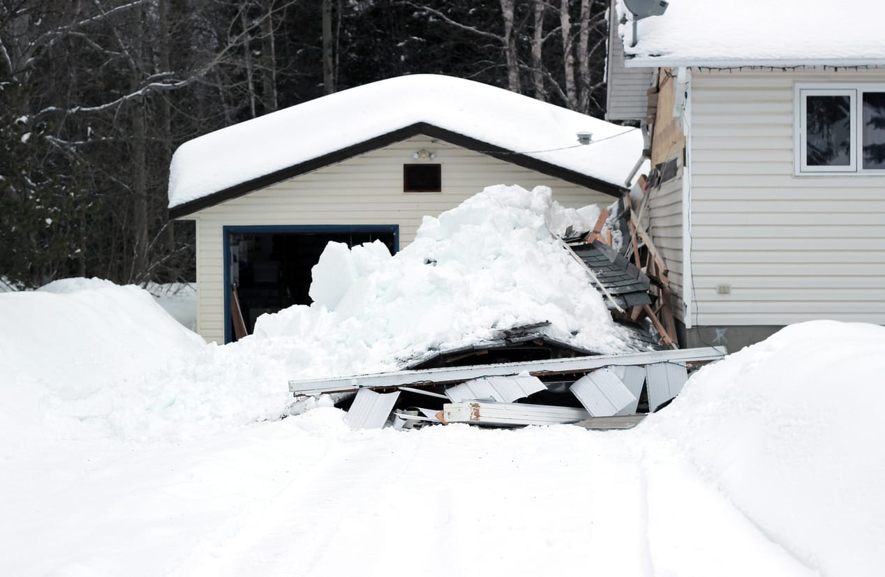 Roof Snow Removal and Collapsed Roof | Piedmont Roofing